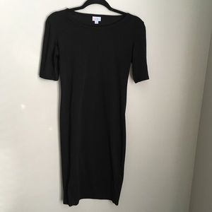 Lularoe Solid Black Julia Dress Sz XS